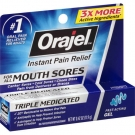 Orajel Oral Pain Reliever Gel for Mouth Sores - 0.42 oz