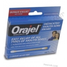 Orajel (Benzocaine 20%) Medicated Mouth Sore Swabs - 12 Unit-Dose Swabs