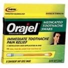 Orajel Maxiumum Toothache Swabs 12 ct