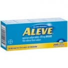 Aleve Pain Reliever Fever Reducer Caplets 200ct