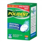Polident Overnight Whitening Antibacterial Denture Cleanser- 120ct