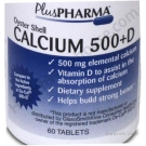 Oyster Shell Calcium 500+D - 60 Tablets