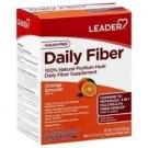 Leader Daily Fiber Psyllium Husk Packets, Smooth Orange, 54 ct