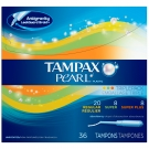 Tampax® Pearl Tampons, Triple Pack, Unscented- 36ct