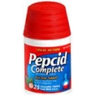 Pepcid Complete Chewable Tablets Cool Mint Flavor 25ct