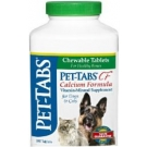 Pet-Tabs CF Calcium Chewable Tablets For Dogs & Cats-180 Count Bottle