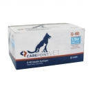 Carepoint Veterinary U-40 Insulin Syringe 29 Gauge, 1/2cc, 1/2