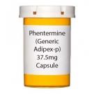 Phentermine (Generic Adipex-p) 37.5mg Capsule