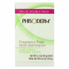Phisoderm Fragrance Free Facial Cleansing Bars 2 pk - 2x3.3oz