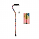 NOVA Medical Products Designer Cane with Offset Handle- Pink Garden