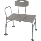 Plastic Transfer Bench with 3 Position Backrest