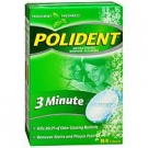 Polident 3-Minute Anti-Bacterial Denture Cleanser Tablets, Triple Mint Fresh- 84ct