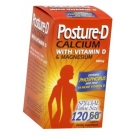 Posture-D Calcium (600mg) with Vitamin D & Magnesium - 120 Caplet Bottle