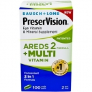 Bausch + Lomb PreserVision AREDS 2 Formula + Multivitamin Eye Vitamin & Mineral Supplement Softgels - 100ct