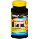 Mason Vitamins D-3 5000iu Advanced Formula Softgels, 50ct