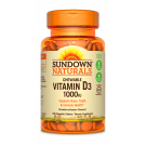 Sundown Naturals Chewable Vitamin D3 1000 IU, Tablets, Strawberry-Banana, 120ct