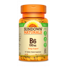 Sundown Naturals B6 Vitamin Supplement Tablets, 100mg, 150ct