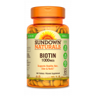 Sundown Naturals High Potency Biotin 1000 Mcg Tablets - 120ct