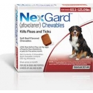 NexGard For Dogs (60-121lbs) (Red)- 3 Dose Pack