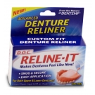 Reline-It D.O.C Denture Reliner 0.4oz- 2ct