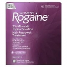 Women's Rogaine Hair Regrowth Treatment Unscented 2% Topical Solution 3 Month Supply - 3x2.0 oz