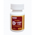 Vitamin D 1000 IU Tablets - 100ct