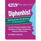 Rugby Diphenhydramine HCL Banded Tablets, 25mg- 100ct