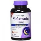 Natrol Melatonin 10mg Fast Dissolve Tablets, Strawberry, 100 Ct