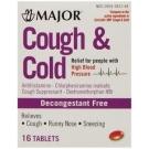 Major Cough & Cold Hbp Tablets, 16ct