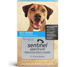 Sentinel Spectrum (For Dogs 51-100 lbs) Chewables- 6 Month Pack