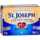 St. Joseph Safety Coated Aspirin 81 mg Tablets - 36ct