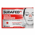 Sudafed PE Congestion Maximum Strength Sinus + Nasal Congestion Relief, 10mg- 36ct