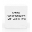 Sudafed (Pseudoephedrine) 12HR Caplet- 10ct