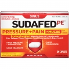 Sudafed PE Pressure & Pain & Mucus Relief Caplets- 24ct