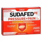 Sudafed PE Pressure & Pain Maximum Strength Caplets for Adults- 24ct