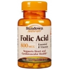 Sundown Folic Acid 800mcg Tablets - 100ct
