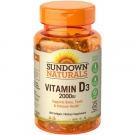 Sundown Naturals Vitamin D3 2000IU Supplement Softgels - 150ct