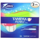 Tampax® Pearl Tampons, Super Unscented- 36ct