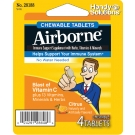 Airborne Immune Support Supplement Chewable Tablets, Citrus - 4ct
