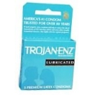 Trojan-Enz Condoms Lubricated Latex 3 ct
