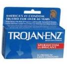 Trojan-Enz Condoms Spermicidal Lubricant Latex 12 ct