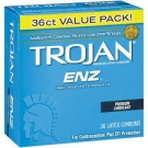 Trojan Enz Lube Condoms- 36ct