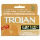 Trojan Ultra Ribbed Condom- 12ct