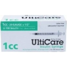 UltiCare Insulin Syringe, 29 Gauge, 1cc, 1/2