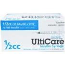 UltiCare Insulin Syringe, 31 Gauge, 1/2cc, 5/16