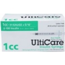 UltiCare Insulin Syringe, 31 Gauge, 1cc, 5/16