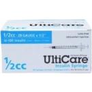 UltiCare U-100 Insulin Syringe, 28 Gauge, 1/2cc, 1/2
