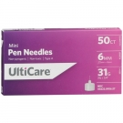 Ulticare Pen Needle 31 Gauge 6mm- 50ct Box