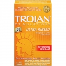 Trojan Ultra Ribbed Spermicidal  Condom- 12ct