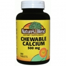 Nature's Blend Chewable Calcium 500 mg Tablets, 100ct